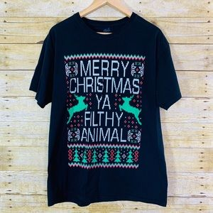 Chill Merry Xmas You filthy Animal Shirt Large